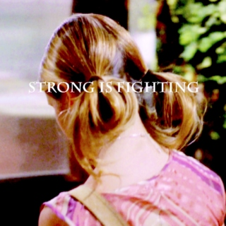 strong is fighting.