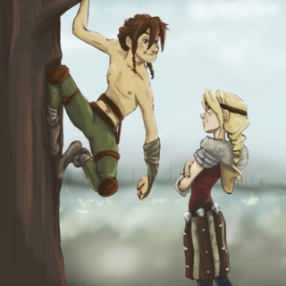 Feral! Hiccup x Astrid