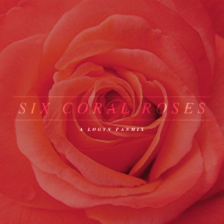 SIX CORAL ROSES