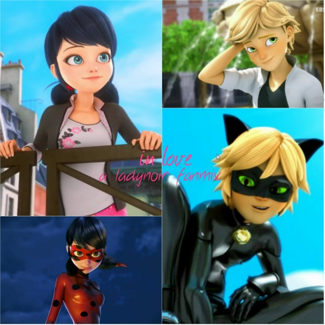 in love; marinette and chat noir