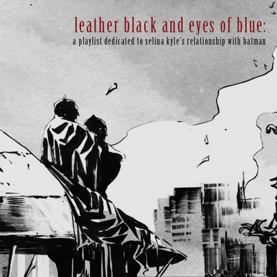 Leather Black and Eyes of Blue