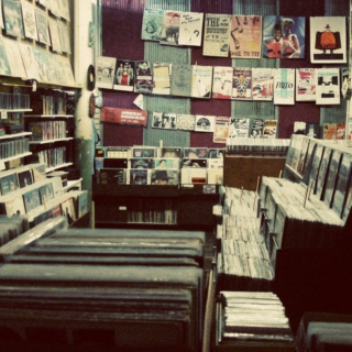 browsing at the record store