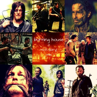 burning house // a rick/daryl mix