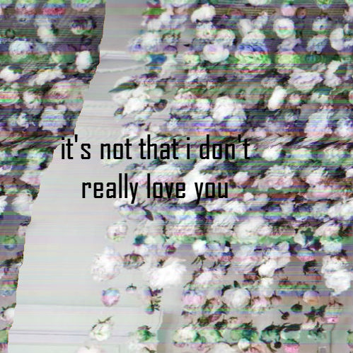 it's not that i don't really love you