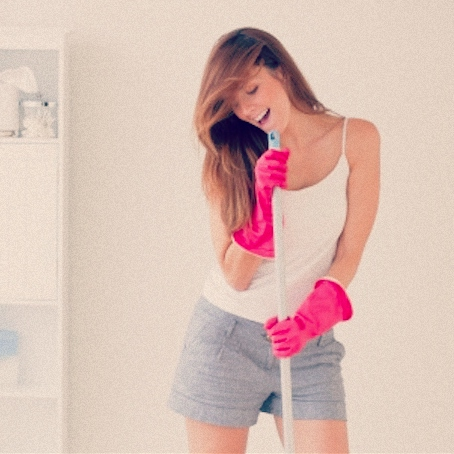 Cleaning (dance party for one)