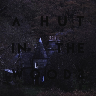 a hut in the woods