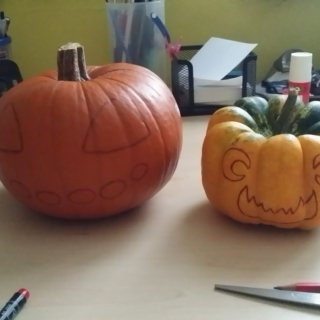 Carving them pumpkins