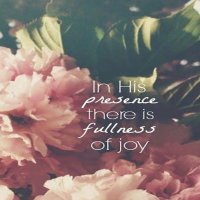 In your presence...