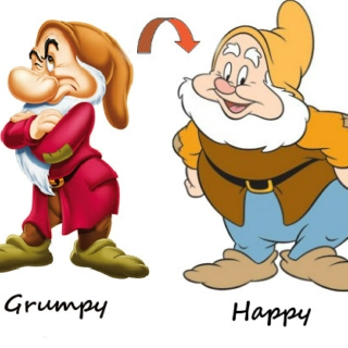 From grumpy to happy ☺