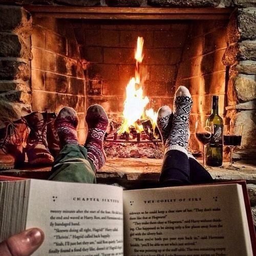 Books and fireplaces