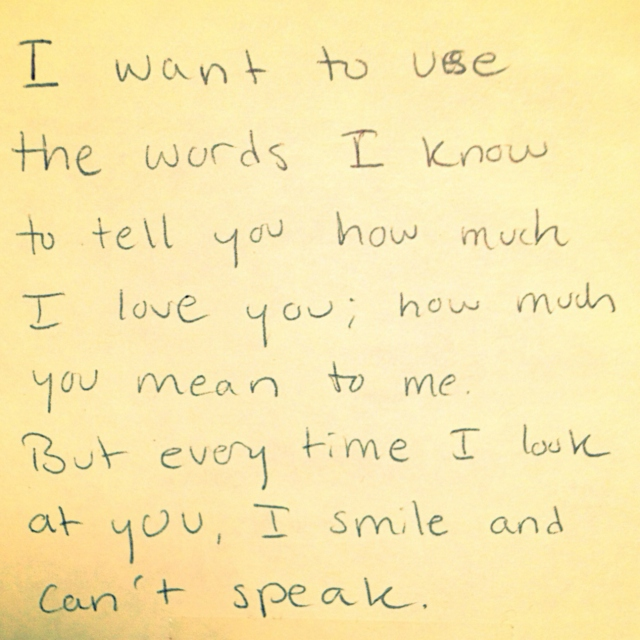 what my words can't explain
