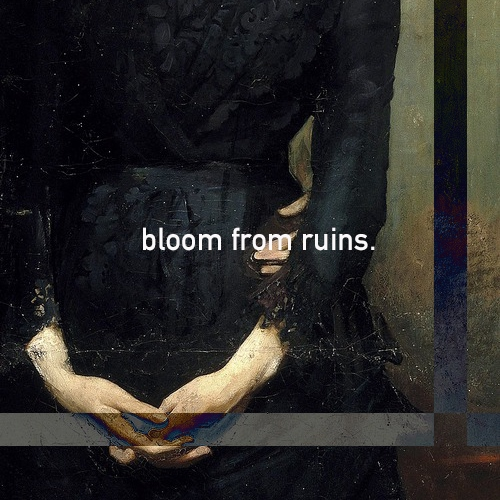 of flowers and blood