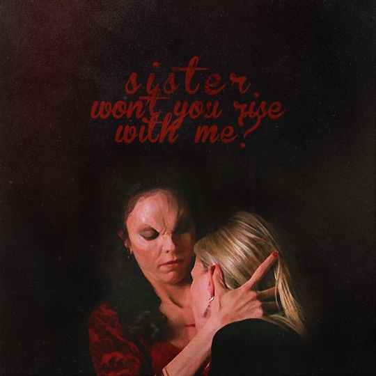 sister, won't you rise with me?