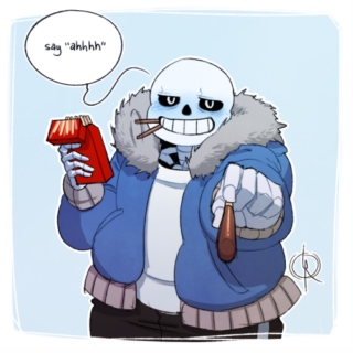 Stay With Me: A Sans/Reader Mix
