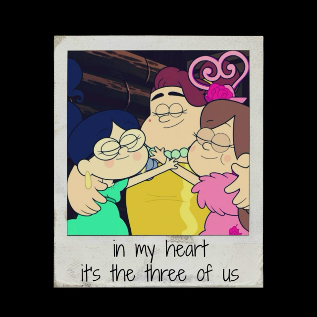 in my heart it's the three of us
