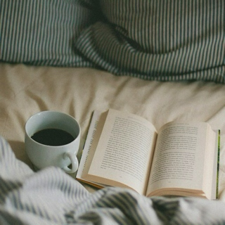 warm bed & a good book