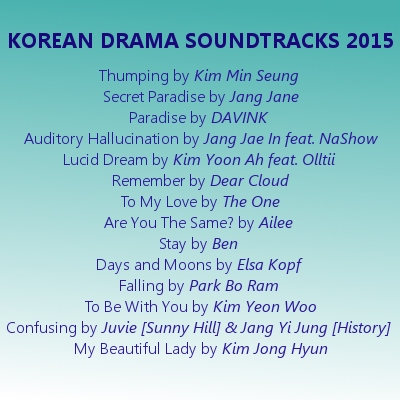 A Year in Kdrama OST - 2015