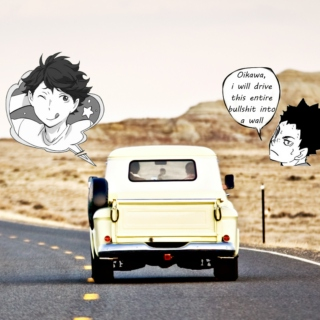 oikawa's roadtrip playlist from hell