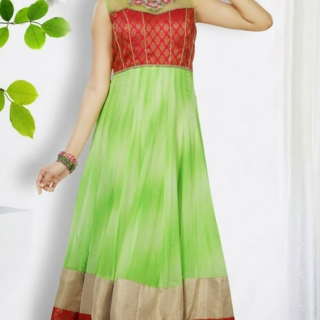 Traditional Georgette Long Length Anarkali Suit