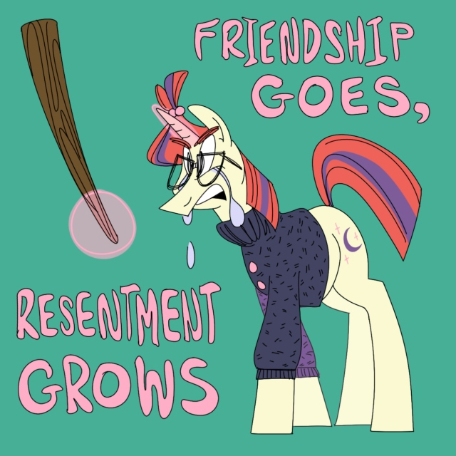 friendship goes, resentment grows