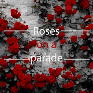 Roses on a parade