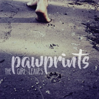 the girl leaves pawprints