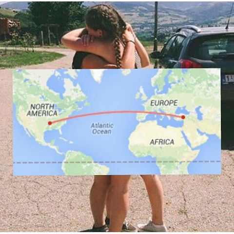 long distance friendship // 6295 miles