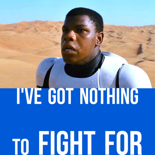 I've got nothing to fight for.