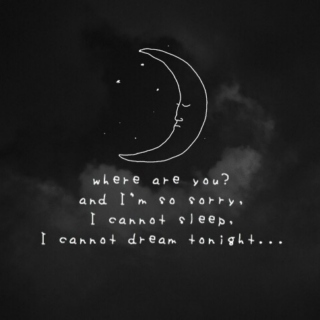 I can't sleep because of you