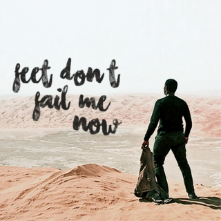 feet, don't fail me now {finn}