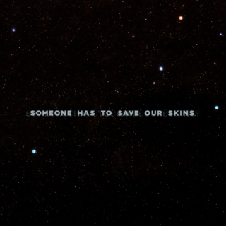 someone has to save our skins.
