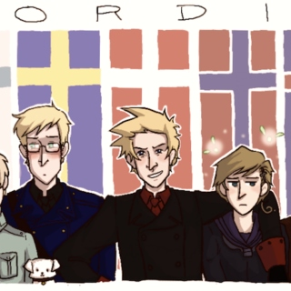 Strength and beauty (Aph Punk!Nordics)