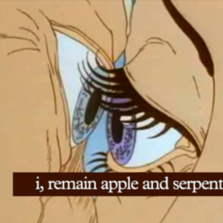 i, remain apple and serpent