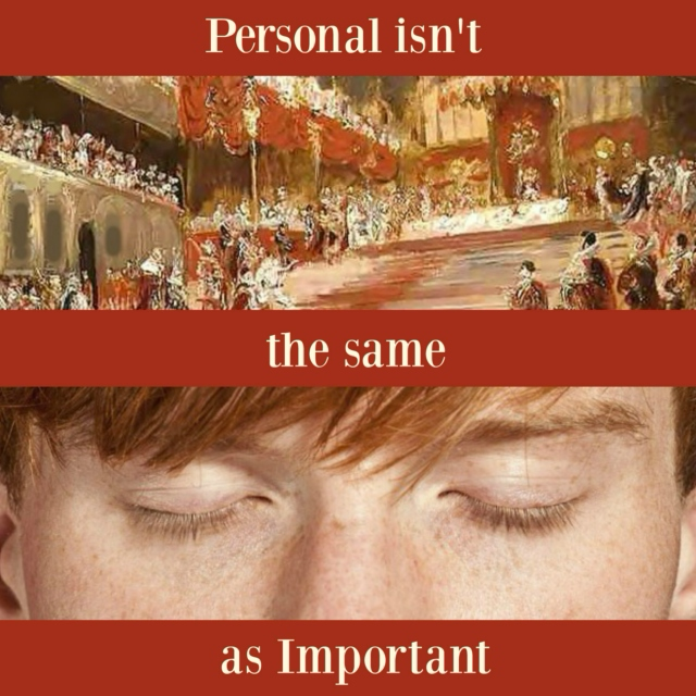 Personal isn't the same as Important