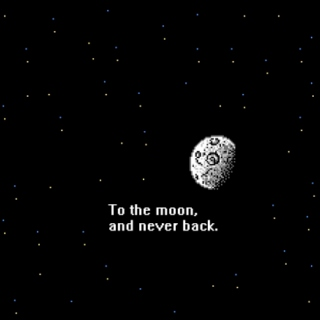 to the moon, and never back