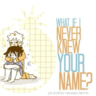 what if i never knew your name?
