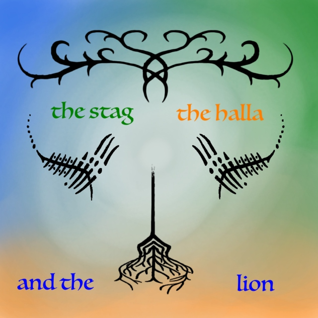 the stag, the halla, and the lion