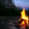 When this lonely campfire reminds me of old flames