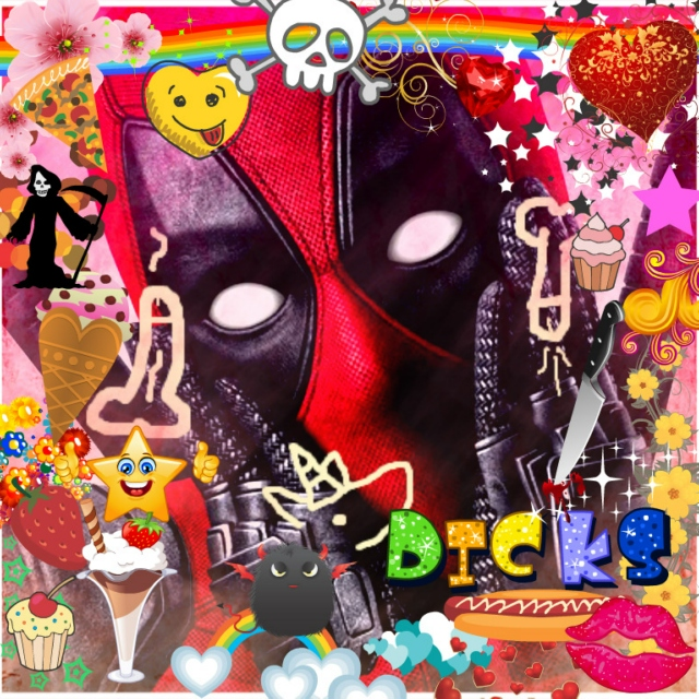 Hi! My name is (CHICKA CHICKA) Deadpool!