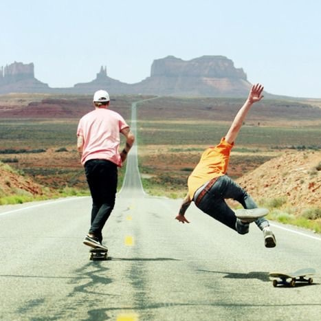 Longboarding in the afternoon