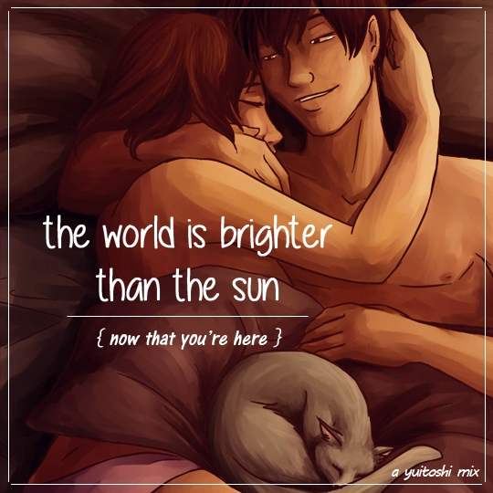 the world is brighter than the sun {now that you're here}