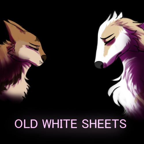 Old white sheets