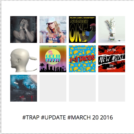 #TRAP #UPDATE #MARCH 20 2016
