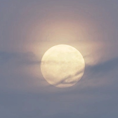 pale moon in the march sky