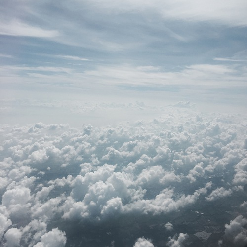 somewhere above the clouds