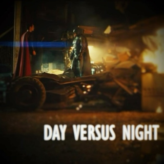 god versus man; day versus night