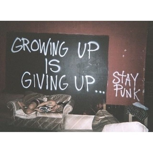 Giving up is Growing up