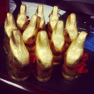 Stress Eating Chocolate Bunnies