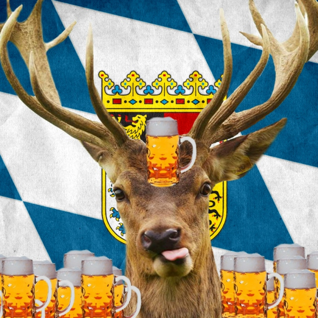 drink some Bavarian beer and get strong like a deer