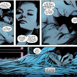 """i think i love you, james buchanan barnes."""